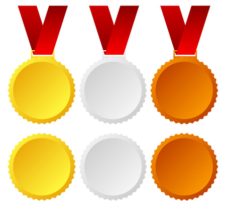 1 place: Oro, plata, bronce Vectores