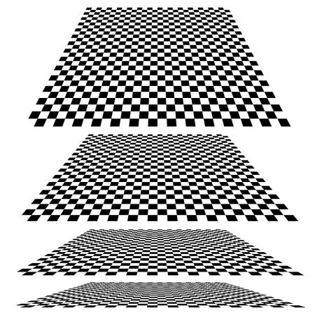 Checkered planes in different angles