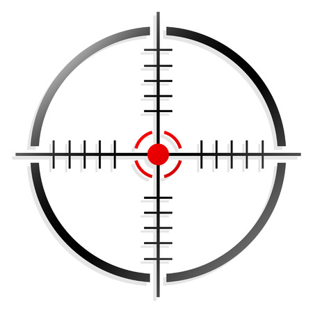 gun sight: Crosshair or reticle Illustration