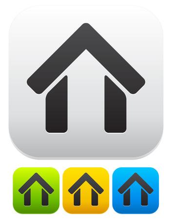 realestate: House symbol on modern rectangle backgrounds Illustration