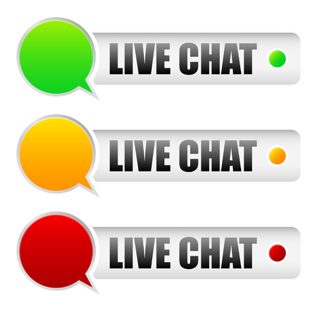chat window: Live chat Illustration