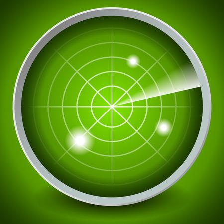 Radar-Bildschirm Standard-Bild - 30401072