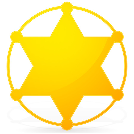 6-pointed Sheriff star, badge Vector