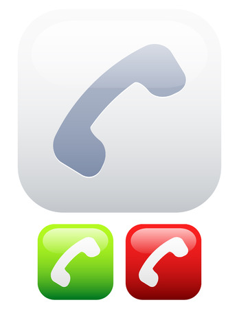 offline: Reciever icon  Pick up, end call or online, offline versions  Illustration