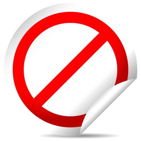 negar: Denegar, etiqueta se�al de prohibici�n