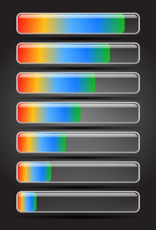 metering: Loading bars Illustration