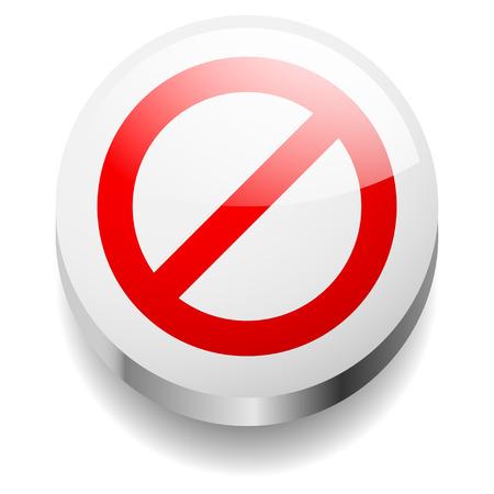 negar: 3d negar signo concepto. Se�al de prohibici�n.