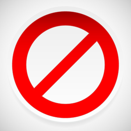 deny: Prohibition, deny sign vector