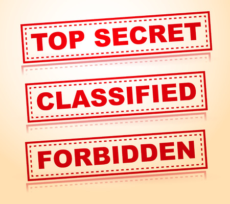 rubberstamp: Top secret, classified, forbidden rubberstamps without grunge