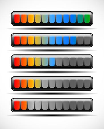 metering: Loading bar Illustration