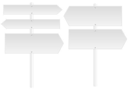 Blank signposts