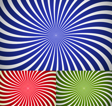 Twisting ray backgrounds  Vector