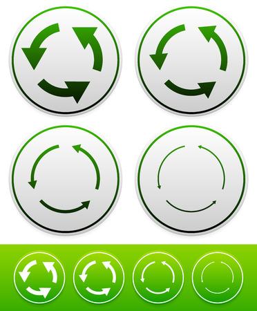 Recylce, circular arrows. Reuse, swap concepts Vector