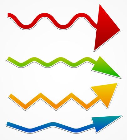 slalom: Wavy arrows
