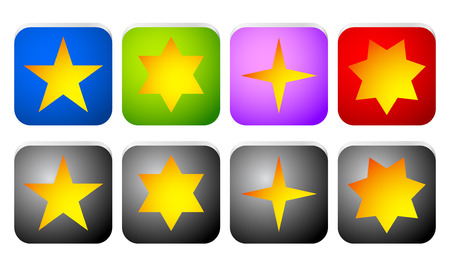 Rectangle star icons Vector