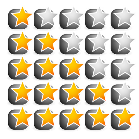 classify: Cool star rating Illustration