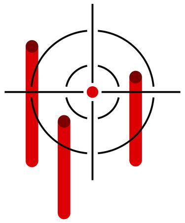 bleeding: Reticle with bleeding hits