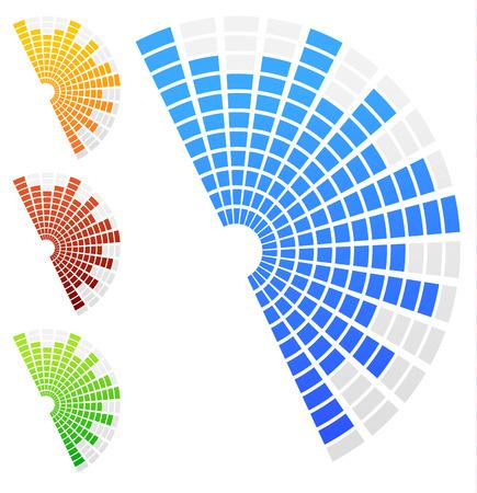 equaliser: Semi circle equalizers Illustration