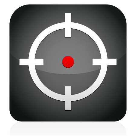 Crosshair, target icon Vector