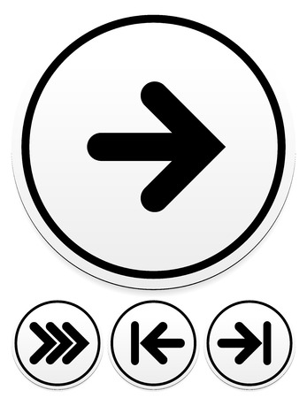 triple: Arrow icons. Right, triple right first and last arrows Illustration