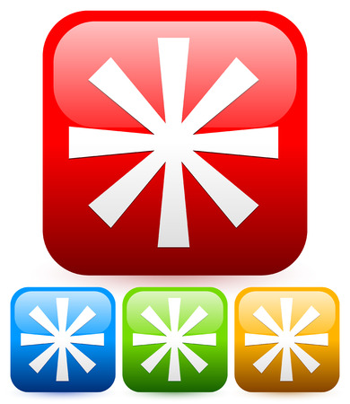 asterisk: Bright Asterisk icon. Footnote, favorite, starlet graphic Illustration