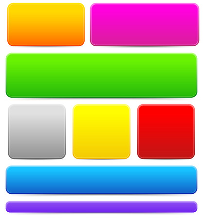 Bright, colorful button, bar or banner backgrounds