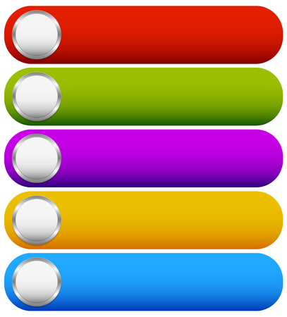 Glossy, bright buttons, banner or bars 矢量图像