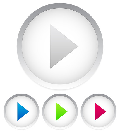 playback: Bright play buttons, 4 colors Illustration