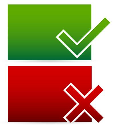 Checkmark, cross Illustration