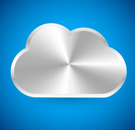 meterology: Metallic cloud icon
