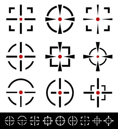 Crosshairs, reticle set Illustration