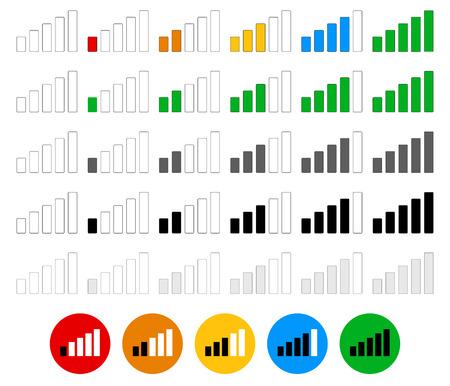 Signal strength indicator set - flat graphics Illustration