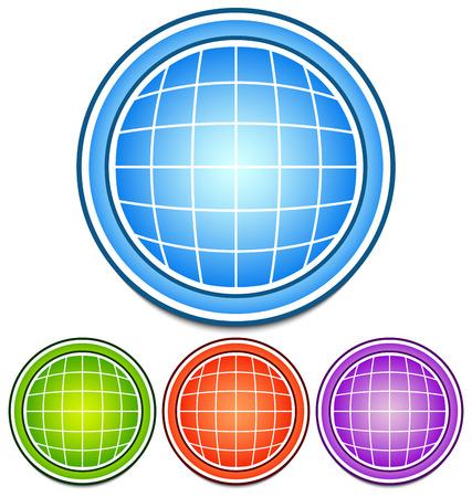spherule: Globe icons Illustration