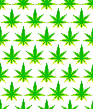 narcótico: Folha de cannabis. Fundo Tileable