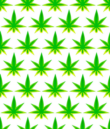 Leaf of cannabis. Tileable background Vector