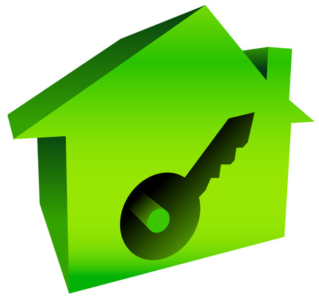 Bright house graphics with keyhole Vector