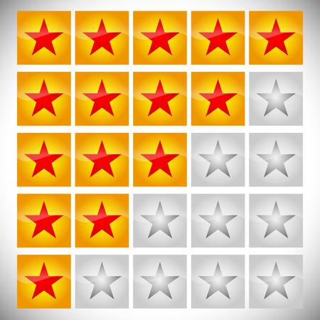 star rating: Classificazione set