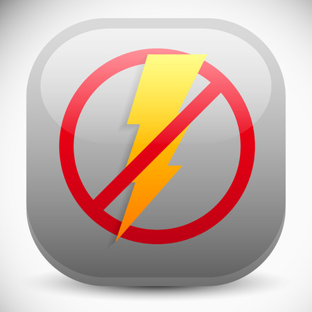 No electricity, blackout icon 免版税图像 - 32301835