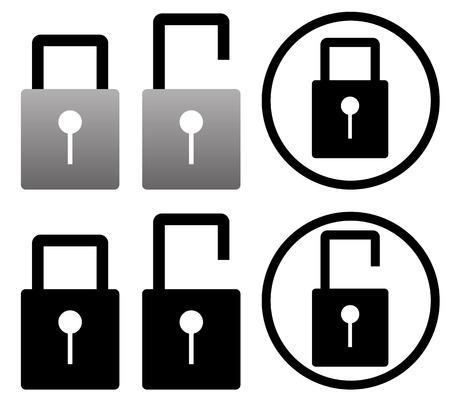 lockout: Padlock pictograms