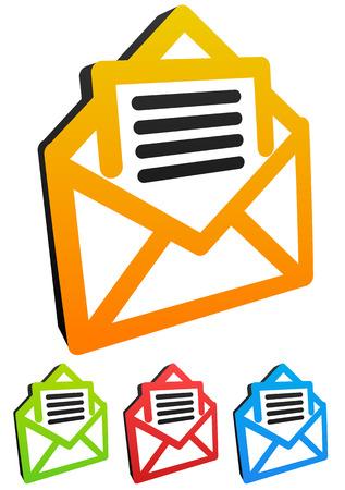 inform: Email icons Illustration