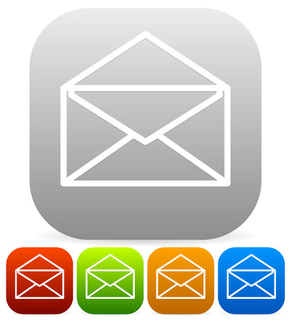 get in touch: Email icons Illustration
