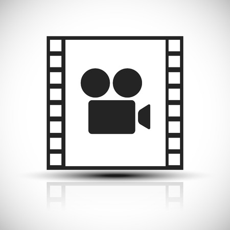 Simple concept graphic for movie, movie production Vector