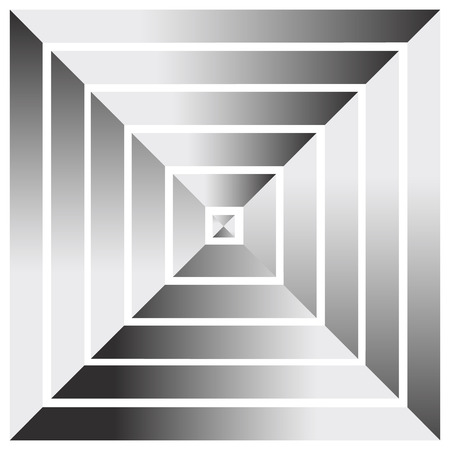 multilevel: Pyramid from above. Abstract graphics Illustration