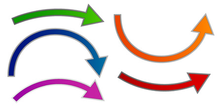 Flexion flèche jeu. Vecteur coloré. Banque d'images - 32300905