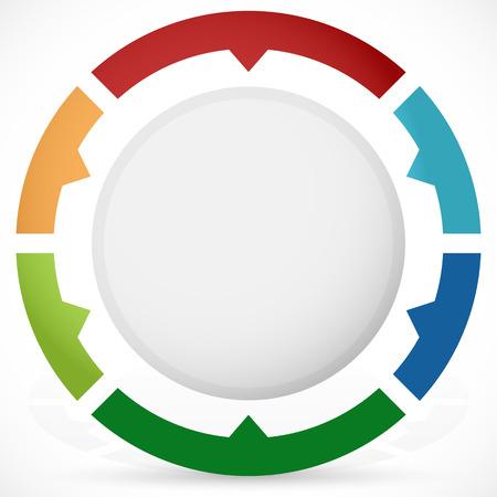 segmented: Presentation or infographics element