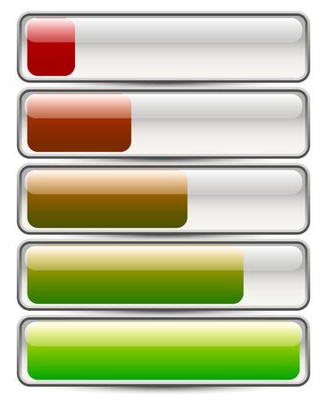 progressbar: Loading bars. Changing colors, gloss.