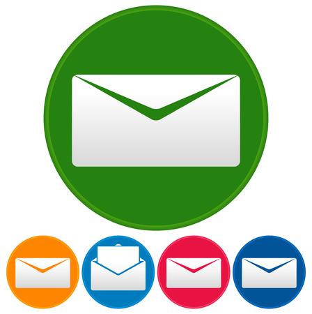 sent: Email or envelope icons. Open, closed mail symbol.