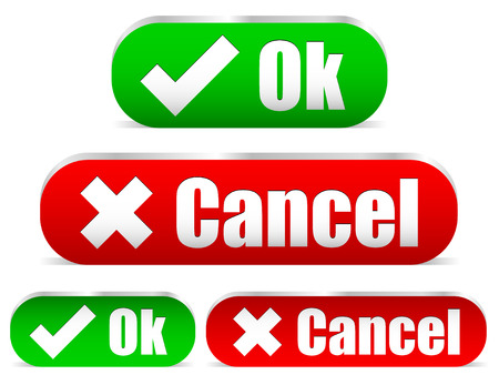 acknowledge: Ok and cancel buttons