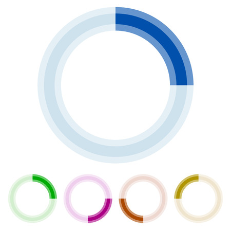 Preloader, circular shape. Segmented circle Vector