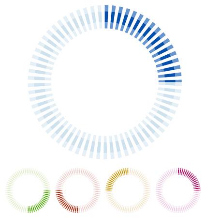Preloader, circular shape. Segmented circle Ilustrace